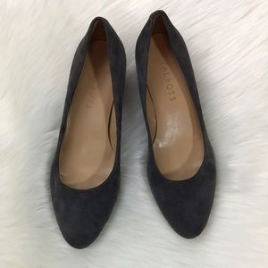 Talbots gray suede leather heels sz 6.5